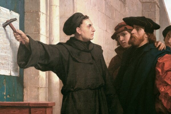 95 thesis of martin luther Five hundred years ago, on oct 31, 1517, the small-town monk martin luther marched up to the castle church in wittenberg and nailed his 95 theses to the door, thus lighting the flame of the.