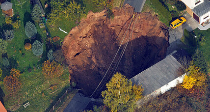 Humongous sinkhole opens up in Germany