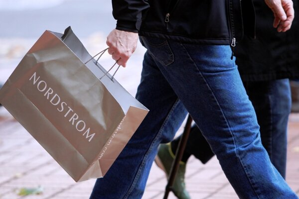 In This 2009 File Photo A Nordstrom Per Is Shown Portland Ore S Outlet Division Rack Challenging Black Friday With