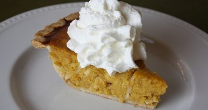Fresh pumpkin coconut pie