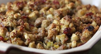 Sausage, apple, and leek stuffing
