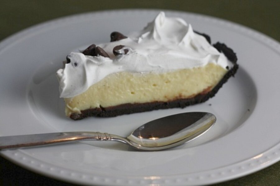 Chocolate Eggnog Pudding Pie