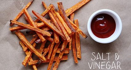 Salt and vinegar sweet potato fries