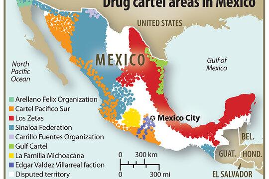 Mexicos most powerful drug cartels Sinaloa Federation – Map of Mexico Sinaloa