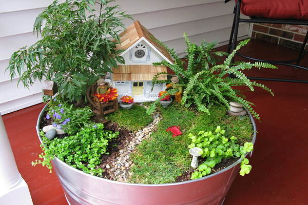Fairy gardens unleash the imagination - How to make a fairy garden container ...