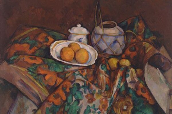 Paul Cézanne tribute: chocolate ginger cake with simmered oranges