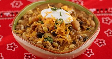 Black and white bean chicken chili