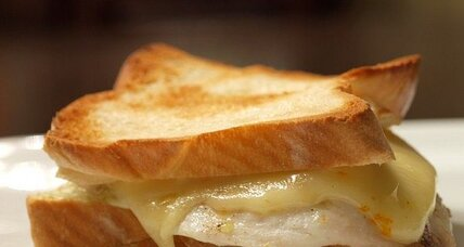 Tilapia grilled cheese sandwich