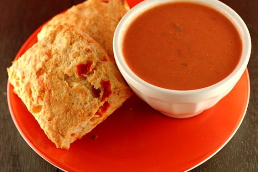 Pimento cheese biscuits and creamy tomato soup - CSMonitor.com