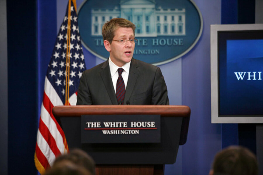 White House Change Of Style Jay Carney Takes Podium As New Press Secretary Csmonitor Com