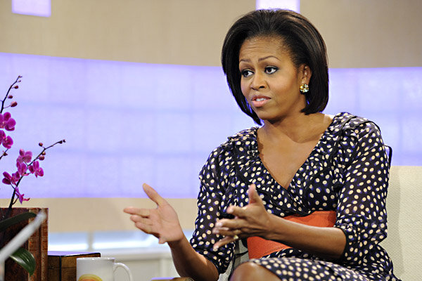Why michelle obama is talking about her husband s gray hair