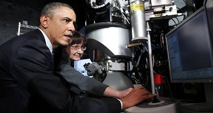 Obama touts high tech, business investment at Intel in Oregon