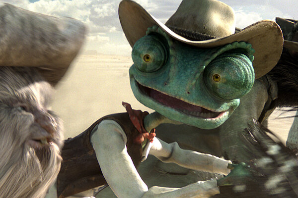 johnny depp stars in rango as a chameleon movie review