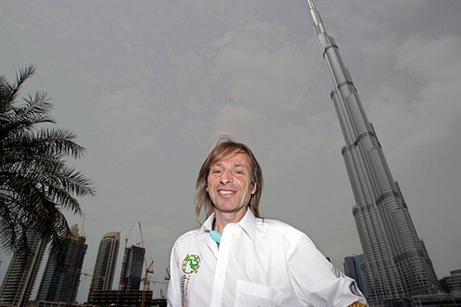 French Spiderman climbs world's tallest building, Dubai's