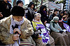 South Koreans pause protests to grieve for Japanese