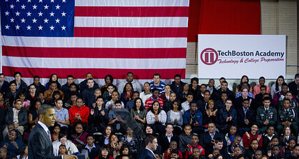 How can US schools reinvent themselves? Look at TechBoston, Obama says.