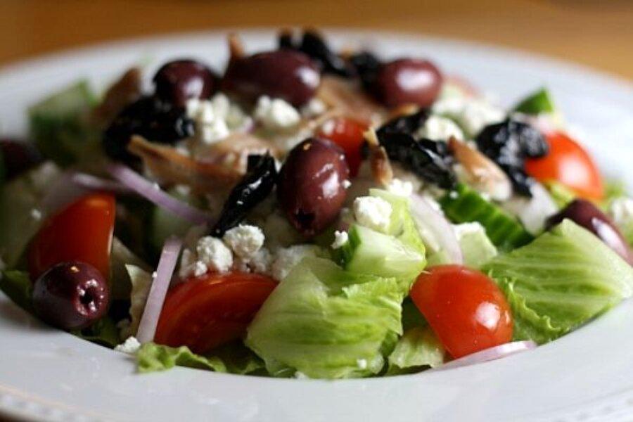 the new mediterranean diet greek salad recipe