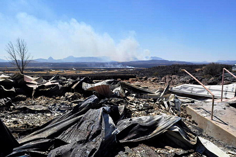 what causes wildfires in texas