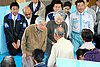 Japan's Emperor Akihito and Empress Michiko make first trip to disaster zone