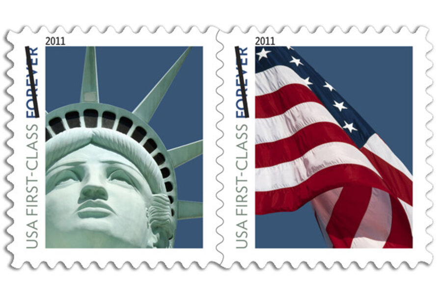 Liberty Stamp Mistake Usps Uses Vegas Replica On Forever Stamp - United-states-forever-stamps