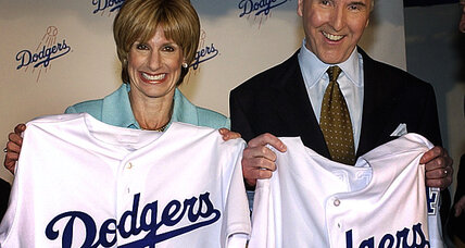 Why did Major League Baseball take over the Los Angeles Dodgers?