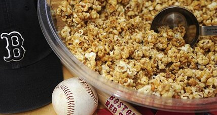 Caramel corn for Red Sox home opener