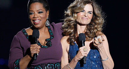 Oprah Winfrey bumps NBA playoffs, welcomes Maria Shriver to United Center