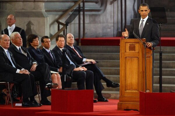 Obama's 'values' speech at Westminster