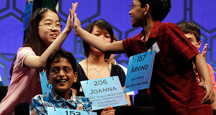 National Spelling Bee: Competitors ease tension with hugs and high-fives