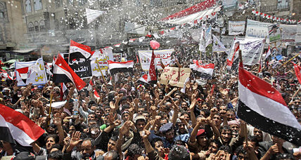 In Yemen, celebrations and confusion after Saleh leaves