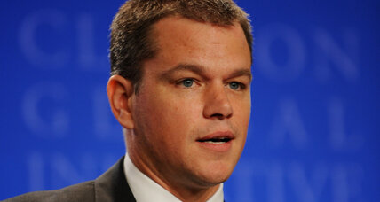 Matt Damon shows how celebrity charity work should be done