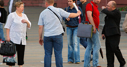 In Belarus, one-armed man arrested for clapping
