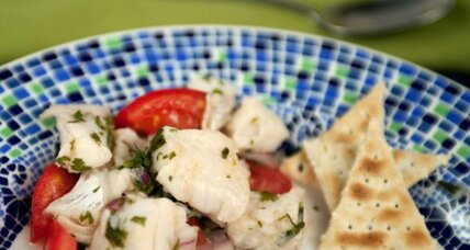 Fish (or scallop) ceviche