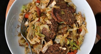 Porktastic cabbage and kielbasa