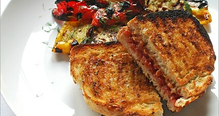 Meatless Monday: grilled peanut butter and jam sandwiches