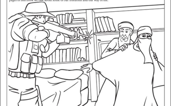A Coloring Book That Depicts Navy SEAL Shooting Bin Laden With Live Ammo Erupting From His Gun Our Kids Dont Need This