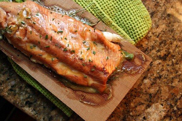 Cedar planked salmon with maple mustard glaze - CSMonitor.com