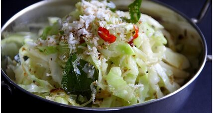 Stir fry cabbage: fragrant and nutty