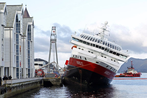 Cruise Ship Tilting Dangerously In Norway After Thursday Fire - Cruise ship norway
