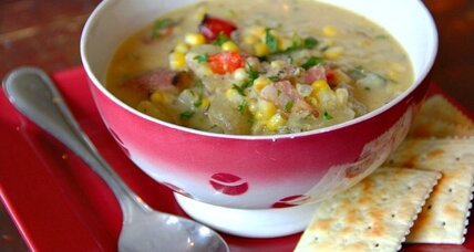 Creamless corn chowder