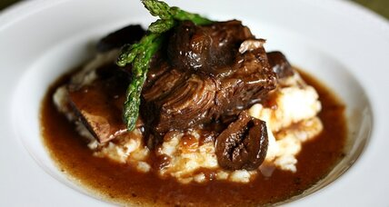 Braised beef short ribs with figs