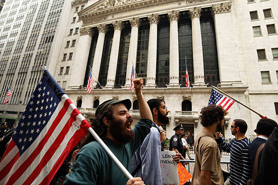 Top Targets Of Occupy Wall Street Wall Street Obviously - Occupy wall street us map