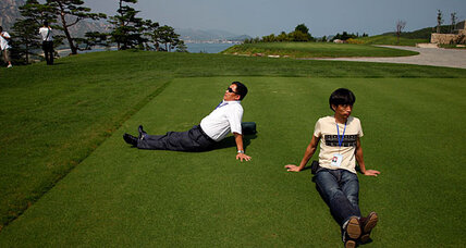 When is a golf tournament not just a tournament? When it's in North Korea.