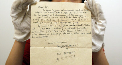 Paul McCartney letter offered tryout to mystery drummer