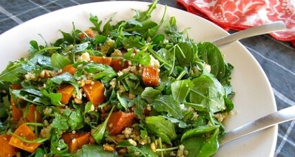 Meatless Monday: Roasted pumpkin, pine nut, and feta salad