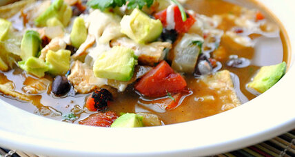 Quick tortilla chicken soup