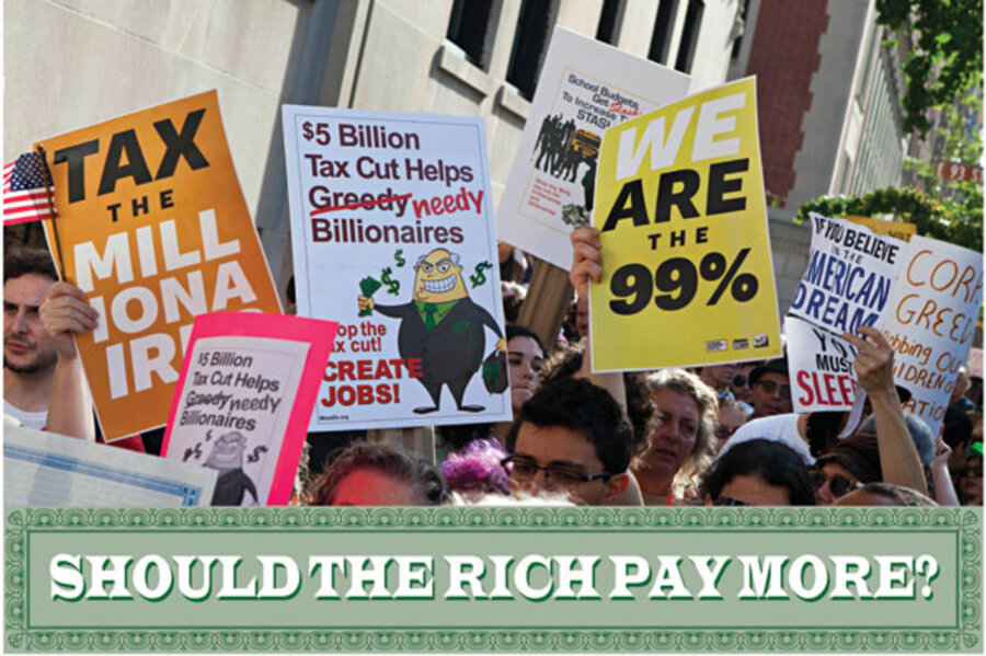 should the rich pay more taxes If one person makes $500,000 a year and another makes $50,000, how much should each pay in taxes it is one of the great questions of public policy, and one that economists typically deflect.