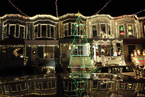 A Christmas Tree Fashioned Out Of Lights Is One Of The Many Artistic  Touches People Along The 700 Block Of 34th St. In Baltimoreu0027s Hampden  Neighborhood Have ...