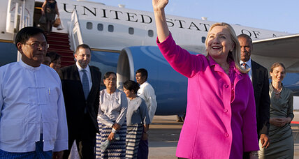 Historic Myanmar trip for Hillary Clinton: Enough focus on human rights? (video)
