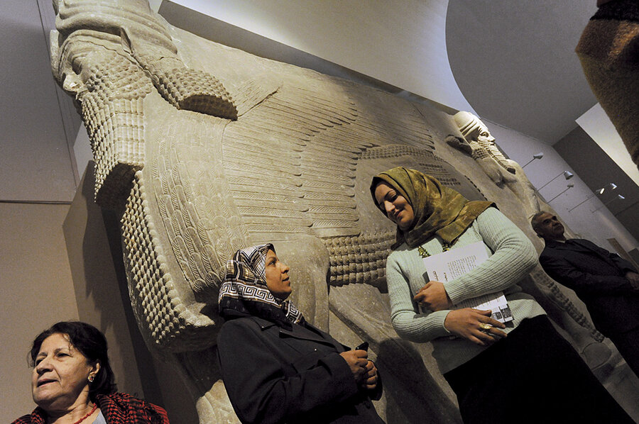 hurt by war in iraq a baghdad museum reemerges